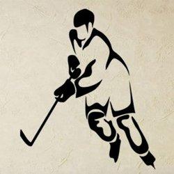Samolepky na zeď Hokejista 0594