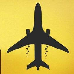 Samolepky na zeď Letadlo 0847