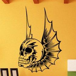 Samolepky na zeď Lebka s křídly 1165