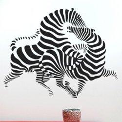 Samolepky na zeď Zebra 010