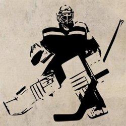 Samolepky na zeď Hokejista 0608