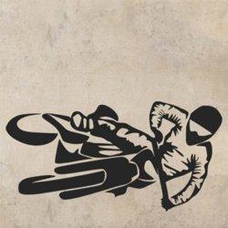 Samolepky na zeď Motorka 1012