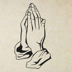 Samolepky na zeď Modlící se ruce 1370