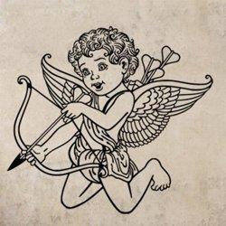 Samolepky na zeď Anděl s šípem 1243