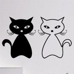 Samolepky na zeď Dvě kočky 0448