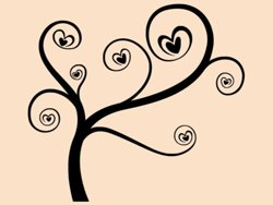 Samolepky na zeď Zamilovaný strom 0226