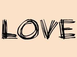 Samolepky na zeď Nápis Love 0236