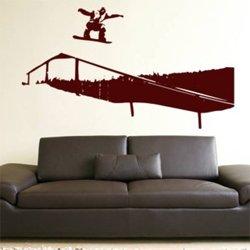 Samolepky na zeď Snowboardista 002