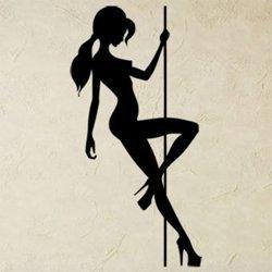 Samolepky na zeď Pole dance 0976