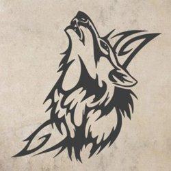Samolepky na zeď Vlk 004