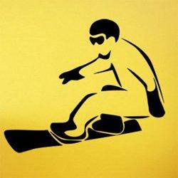 Samolepky na zeď Snowboardista 0972