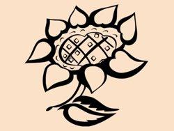 Samolepky na zeď Květiny 018
