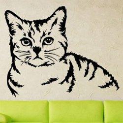 Samolepky na zeď Kočka 0483