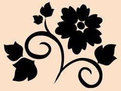 Samolepky na zeď Květiny 016