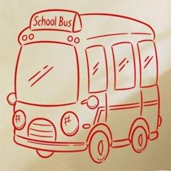 Samolepky na zeď Autíčko autobus 0779