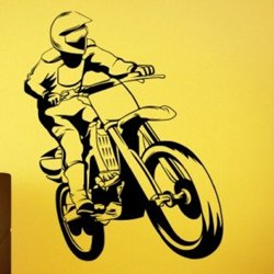 Samolepky na zeď Motokros 0997