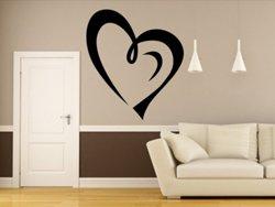 Samolepky na zeď Srdce 0252
