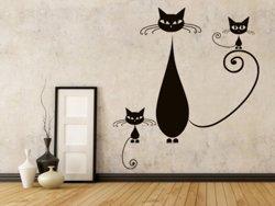 Samolepky na zeď Kočka 009