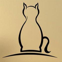Samolepky na zeď Kočka 0499