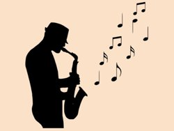 Samolepky na zeď Saxofonista 001