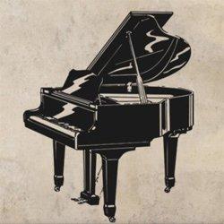Samolepky na zeď Piano 001