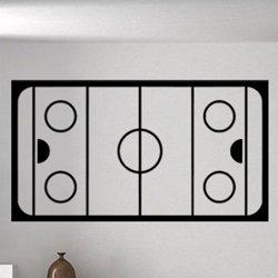 Samolepky na zeď Plán hokejového hřiště 0695