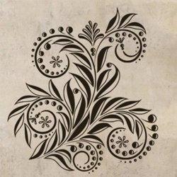 Samolepky na zeď Ornamenty z rostlin 033