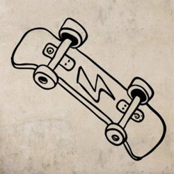 Samolepky na zeď Skateboard 0958