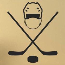 Samolepky na zeď Helma a hokejky 0698