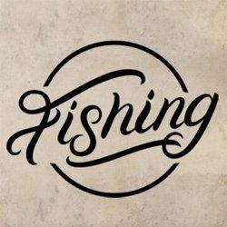 Samolepky na zeď Nápis Fishing 0641