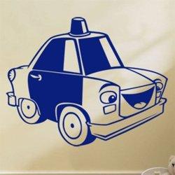 Samolepky na zeď Autíčko Policie 0777