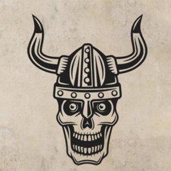Samolepky na zeď Lebka vikingská 1218