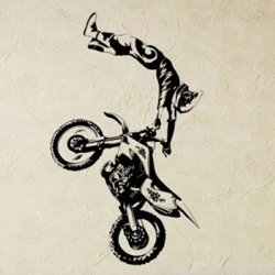 Samolepky na zeď Motokros 0993