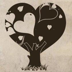 Samolepky na zeď Zamilovaný strom 0223
