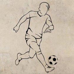 Samolepky na zeď Fotbalista 0584