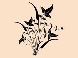 Samolepky na zeď Ornamenty z rostlin 044