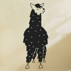 Samolepky na zeď Lama kresba 0623