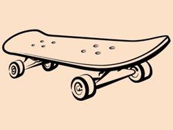 Samolepky na zeď Skateboard 0960