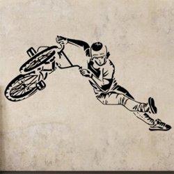 Samolepky na zeď BMX biker 1049