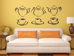 Samolepky na zeď Konvice na čaj 0081