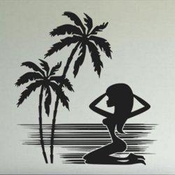 Samolepky na zeď Kráska na pláži 001