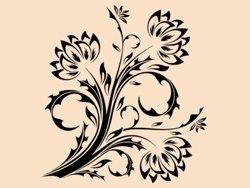Samolepky na zeď Květiny 017