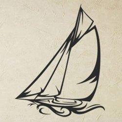Samolepky na zeď Loď plachetnice 0924