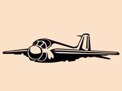 Samolepky na zeď Letadlo 009