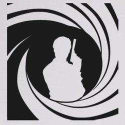 Samolepky na zeď James Bond 002