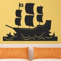 Samolepky na zeď Loď pirátská 0927