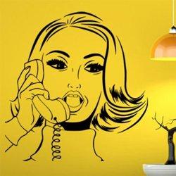 Samolepky na zeď Retro žena z komiksu 1070