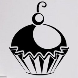 Samolepky na zeď Cupcake 0005