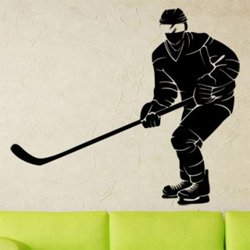Samolepky na zeď Hokejista 0604