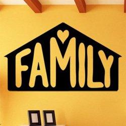 Samolepky na zeď Nápis Family 0656